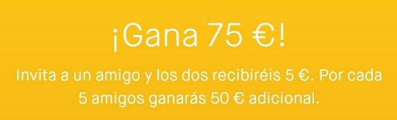 gana 75€