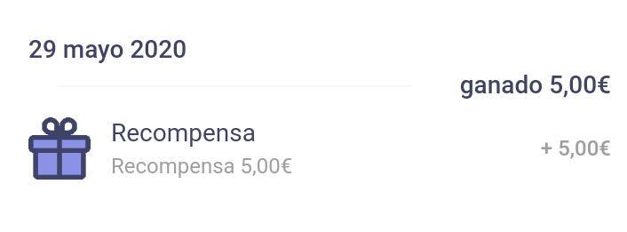 5€ ganados gracias a Arbor