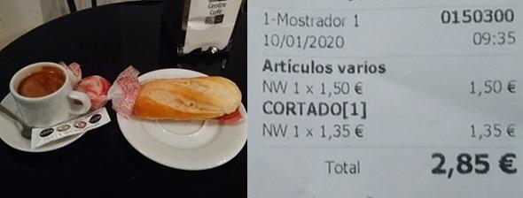 café y ticket
