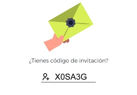 Código invitación