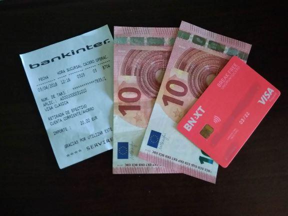dinero tarjeta
