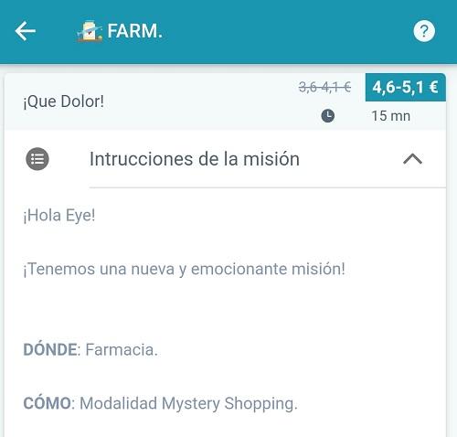 Misión en farmacias