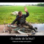 Cada uno se baja de la bici como quiere. ¿O no?