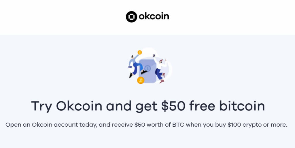 Invitación de 50$ para Okcoin