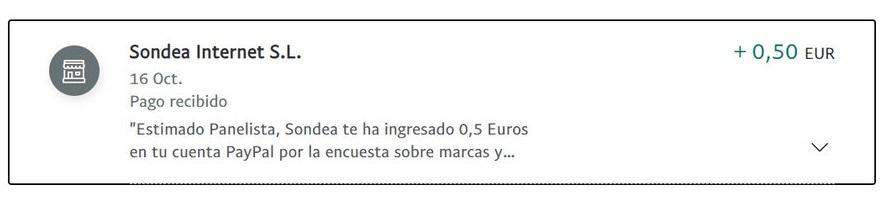 0,50€ en Sondea