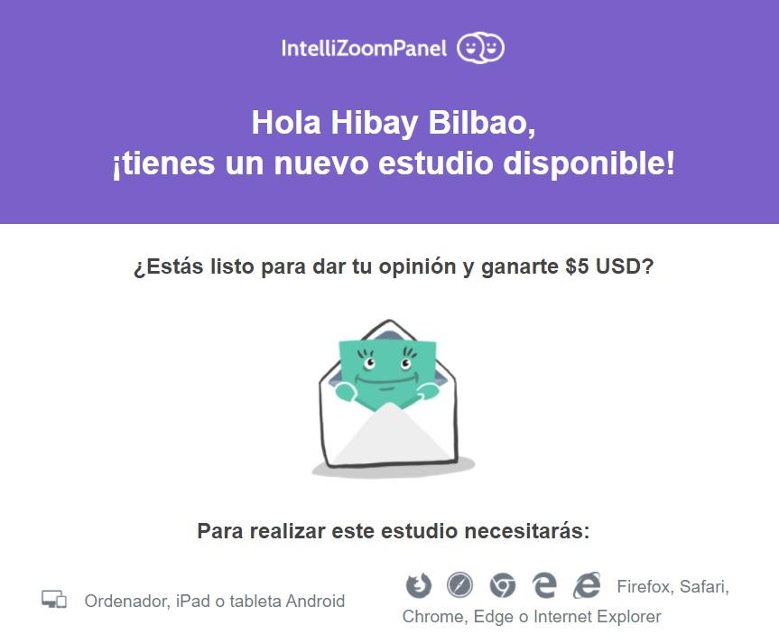 Encuesta de 5$ en IntelliZoom