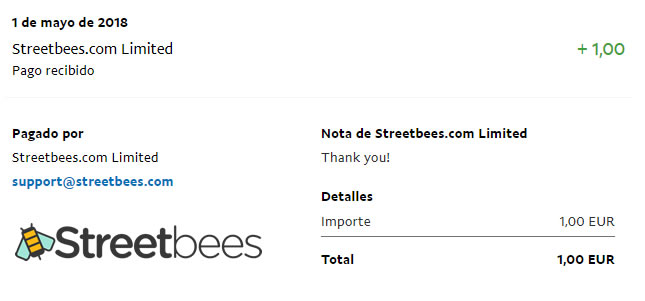 paypal streetbees