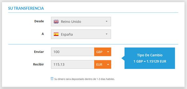 Transferencia de Reino Unido a España