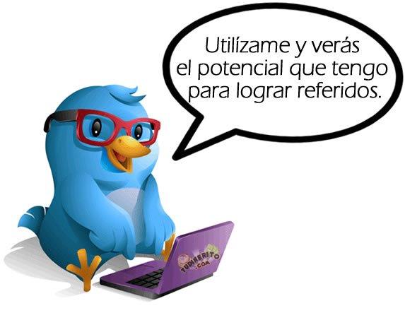 Twitter para conseguir referidos