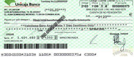 Cheque 21€