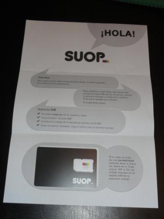 SUOP: La carta con la tarjeta