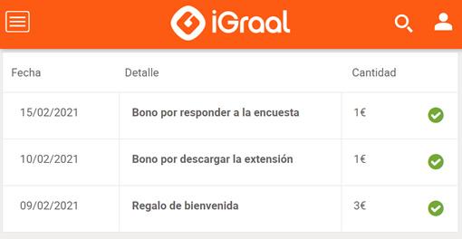 Hasta 4€ gratis en iGraal para empezar bien