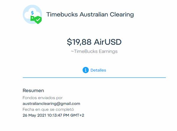 Pago TimeBucks 2021