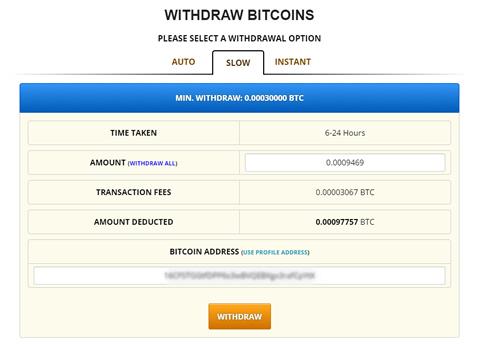 Para retirar los btc en Freebitcoin