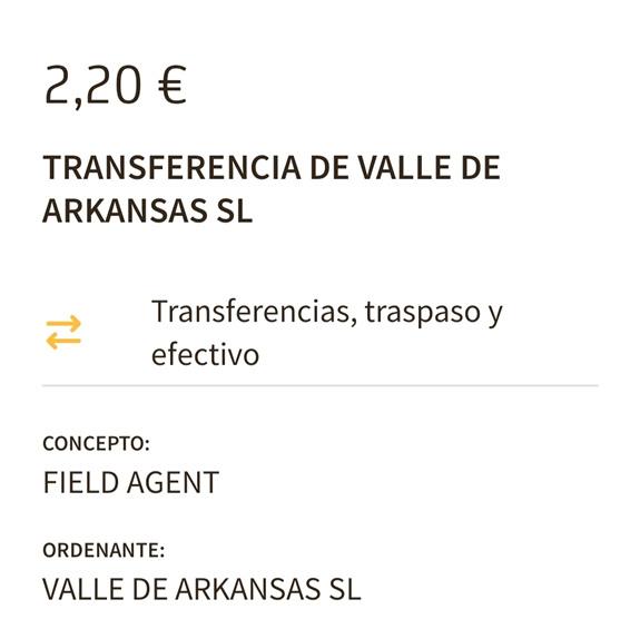 transferencia Field Agent